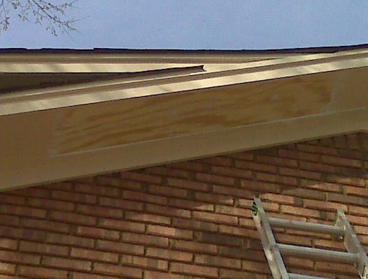 The Birmingham Handyman Soffit Plywood Replaced