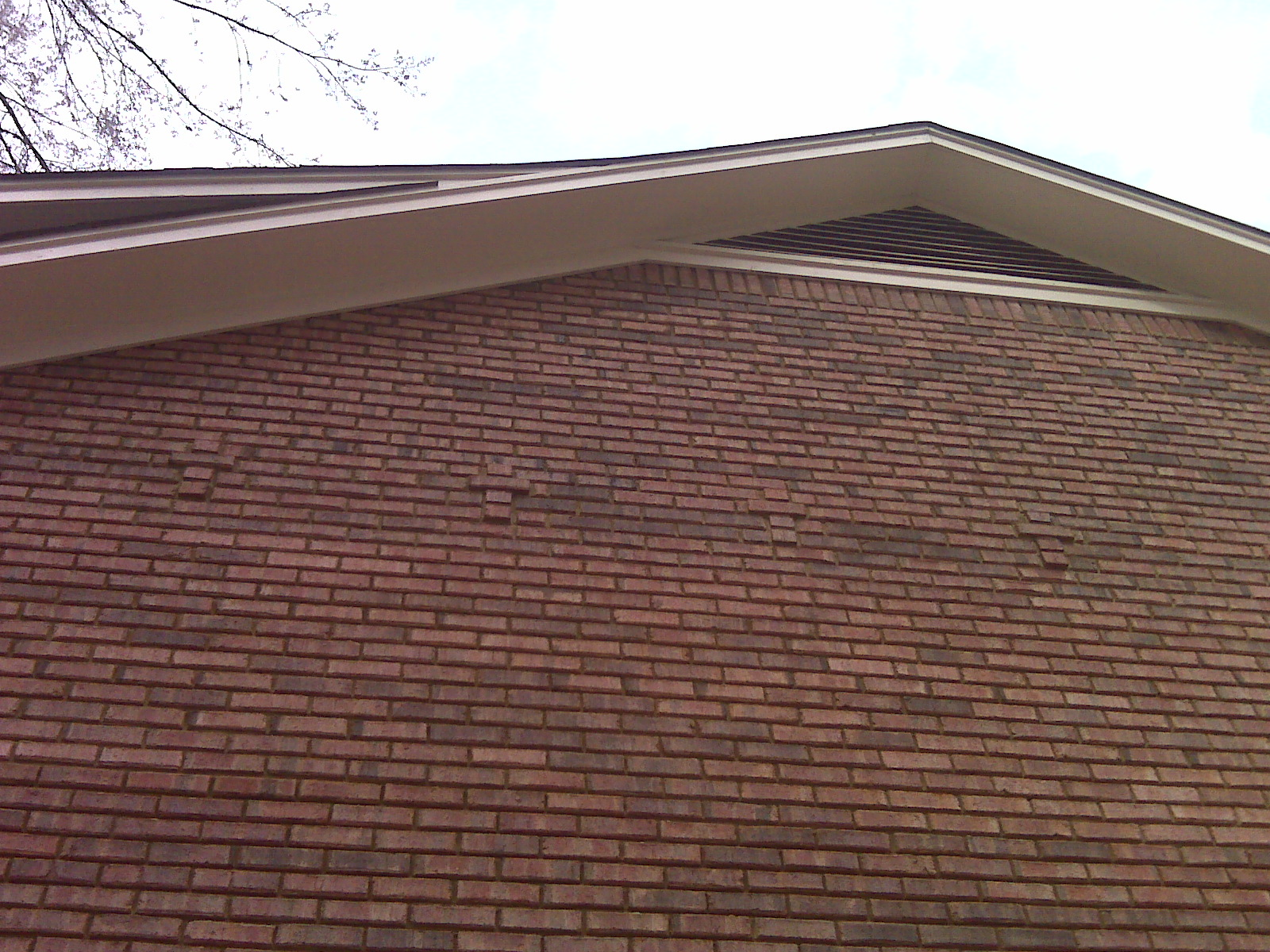 Attractive Soffit Damaged By Squirrels Finished Eave Soffit Repair ...