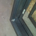 Steel window frame welding