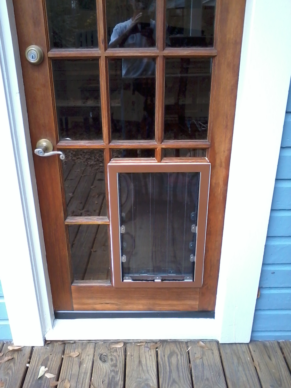 Pet Door Installed in French Door