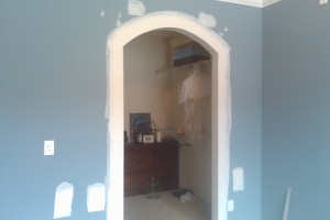 drywall finishing arched opening