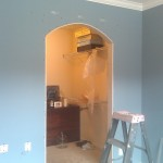 drywall install arched opening