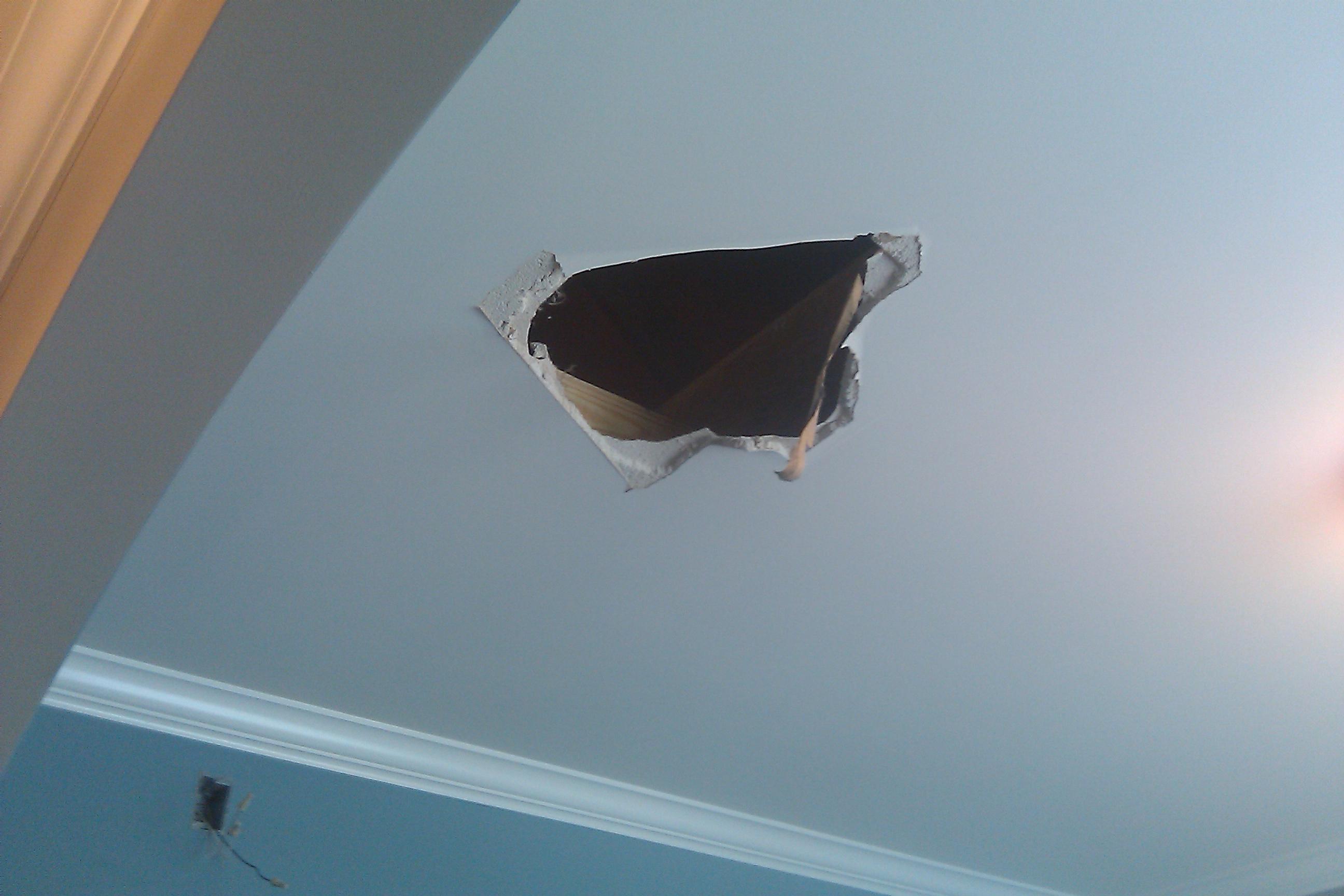 The Birmingham Handyman Hole In Drywall Ceiling