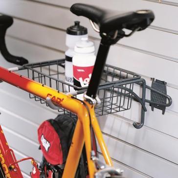 garage wall storage bike rack u0026 basket