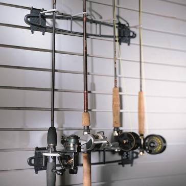 The Birmingham Handyman Garage Wall Storage Fishing Rod Rack