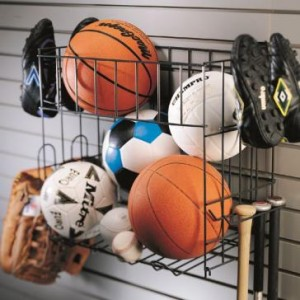 Garage Wall Storage Sports Rack & Basket