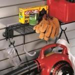 Garage Wall Storage Shelf With Hooks