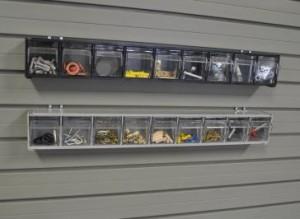 Garage Wall Storage Tip Out Bins