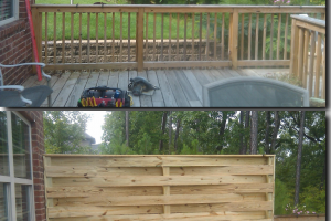 Deck Privacy Blind