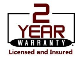 Industry leading 2 year warranty